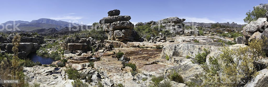 Rock pool in the Cederberg Mountains royalty-free stock photo
