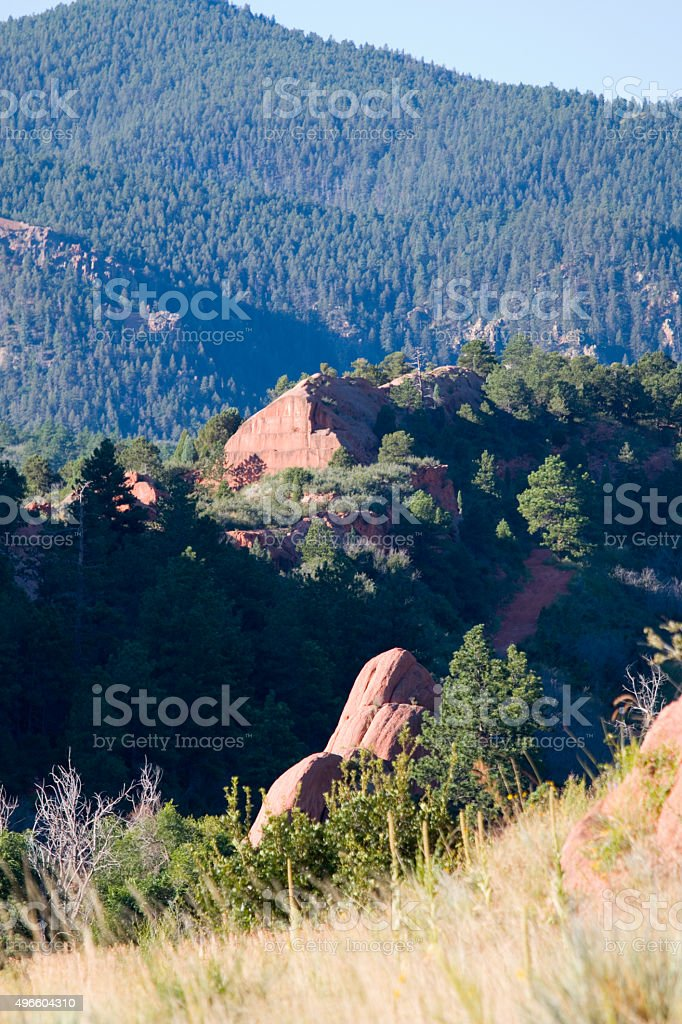 Rock Quarry at Red Rock Canyon stock photo
