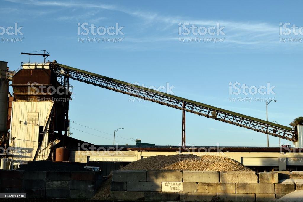 Rock Quarry Conveyor Belt Stock Photo - Download Image Now