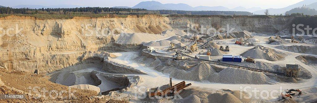 Rock Quarry Panorama (XXXL+) stock photo