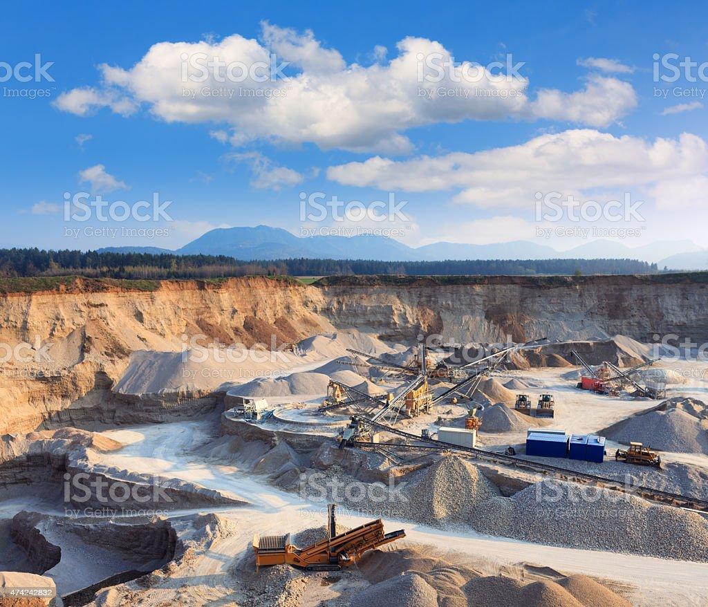 Rock Quarry stock photo
