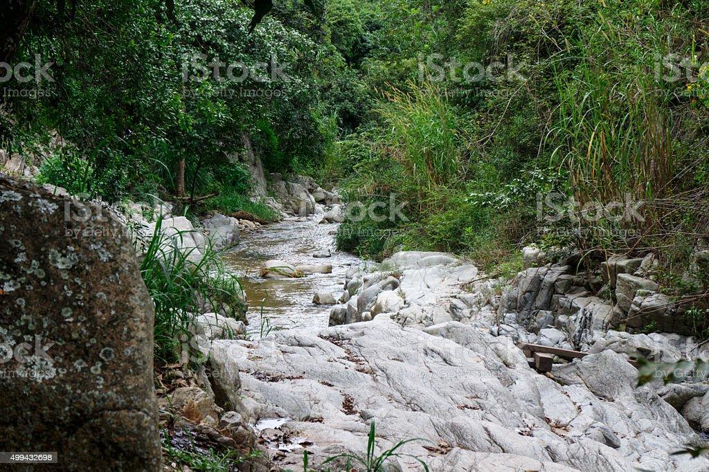 rock river view from Dipilto, Ocotal, Nicaragua stock photo