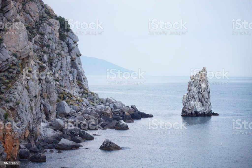 Rock Sail. Crimea. Black Sea stock photo