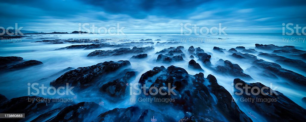 Rock Seascape Panorama royalty-free stock photo