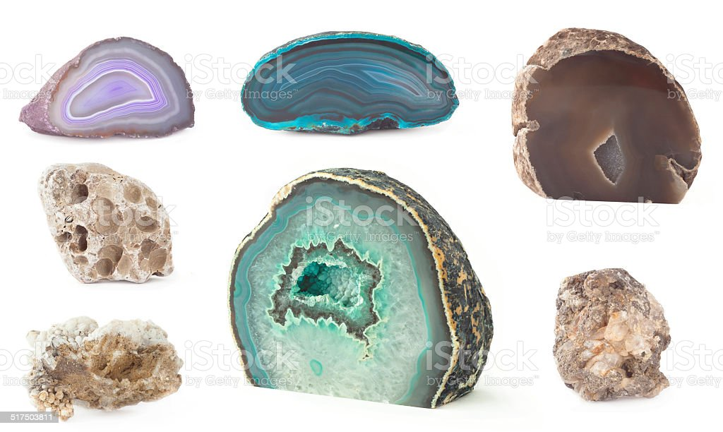 rock set isolated stock photo