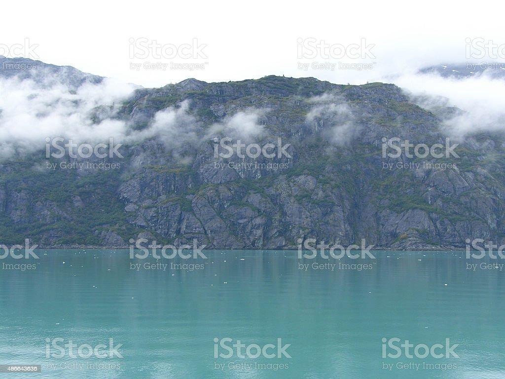 Rock shoreline stock photo