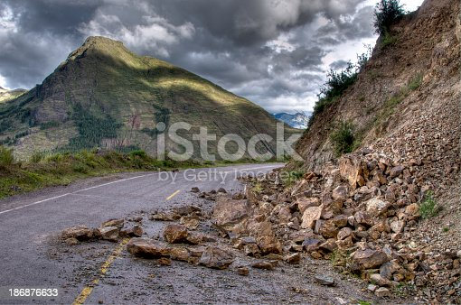 Rock Slide - HDR Image - Multiple Exposures used to capture full dynamic range