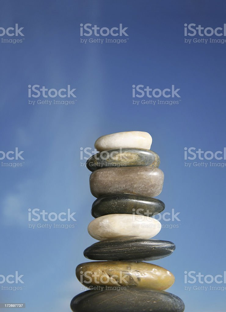 Rock stack royalty-free stock photo