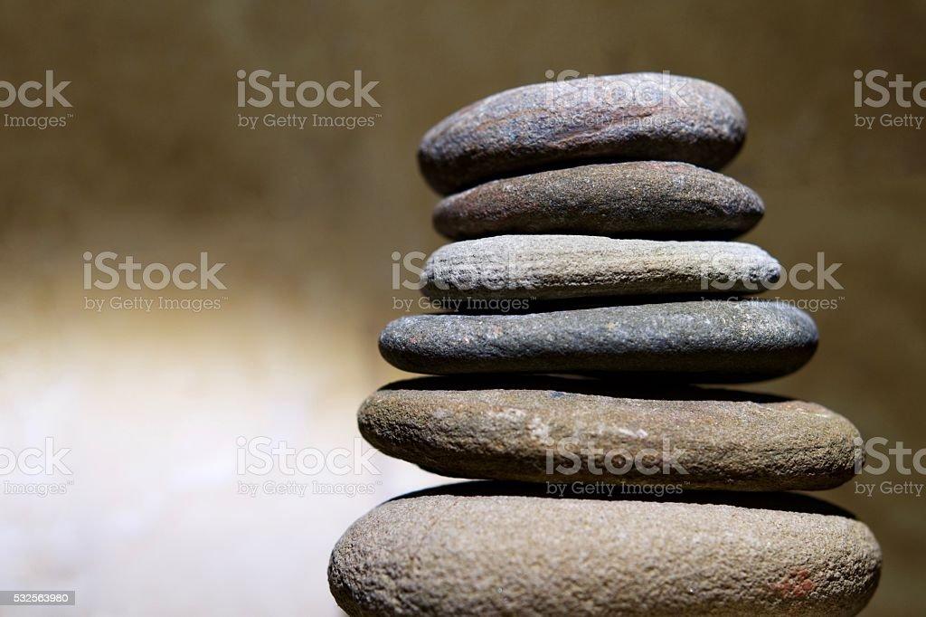 Rock stack stock photo