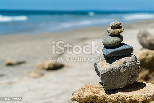 157587490 istock photo Rock Stacks balancing the happiness in your life 1190749868