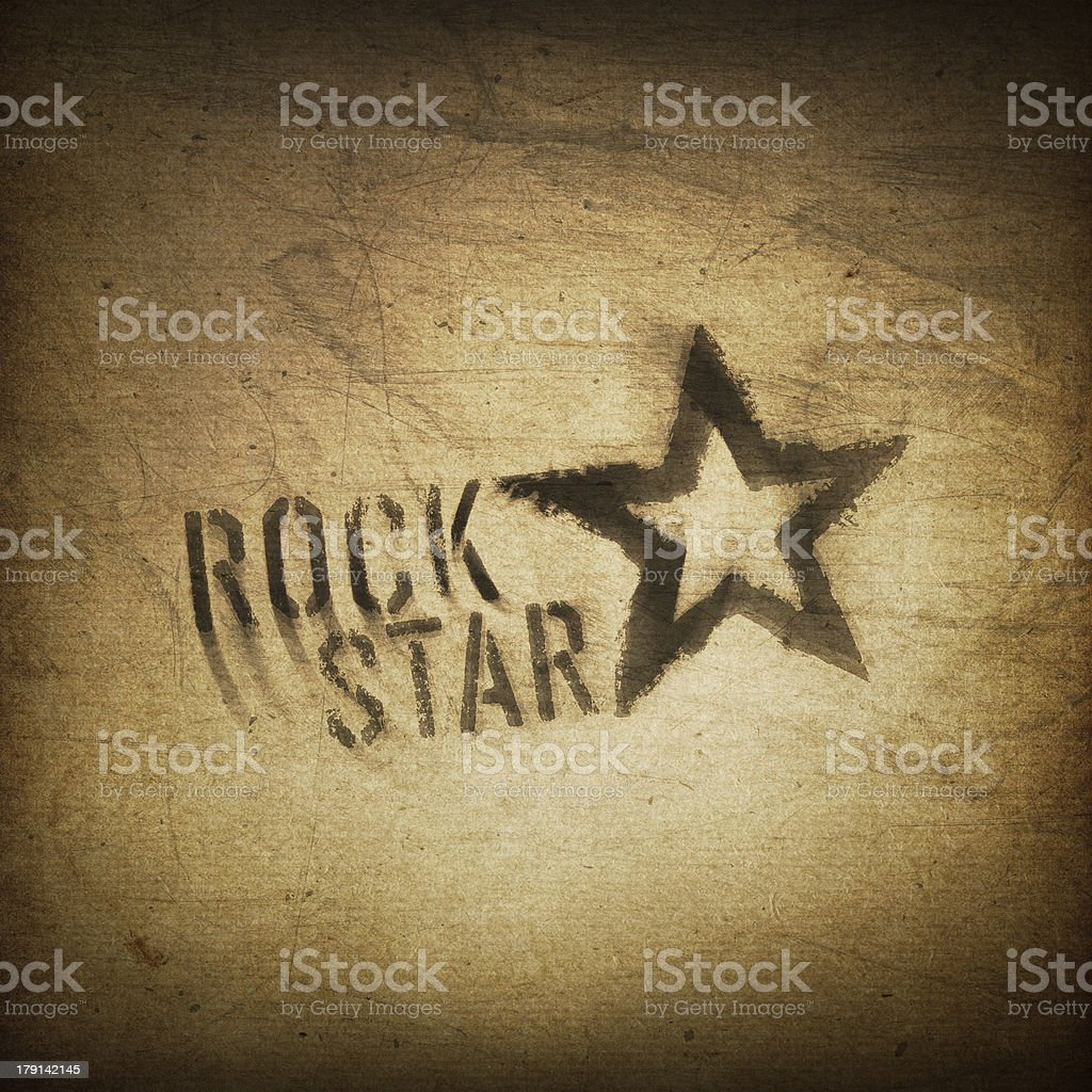 Rock star grunge background stock photo
