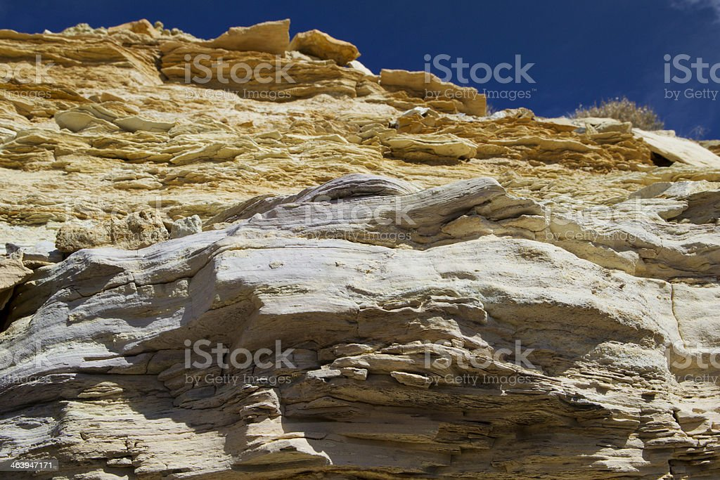 Rock Strata at Fossil Butte National Monument royalty-free stock photo