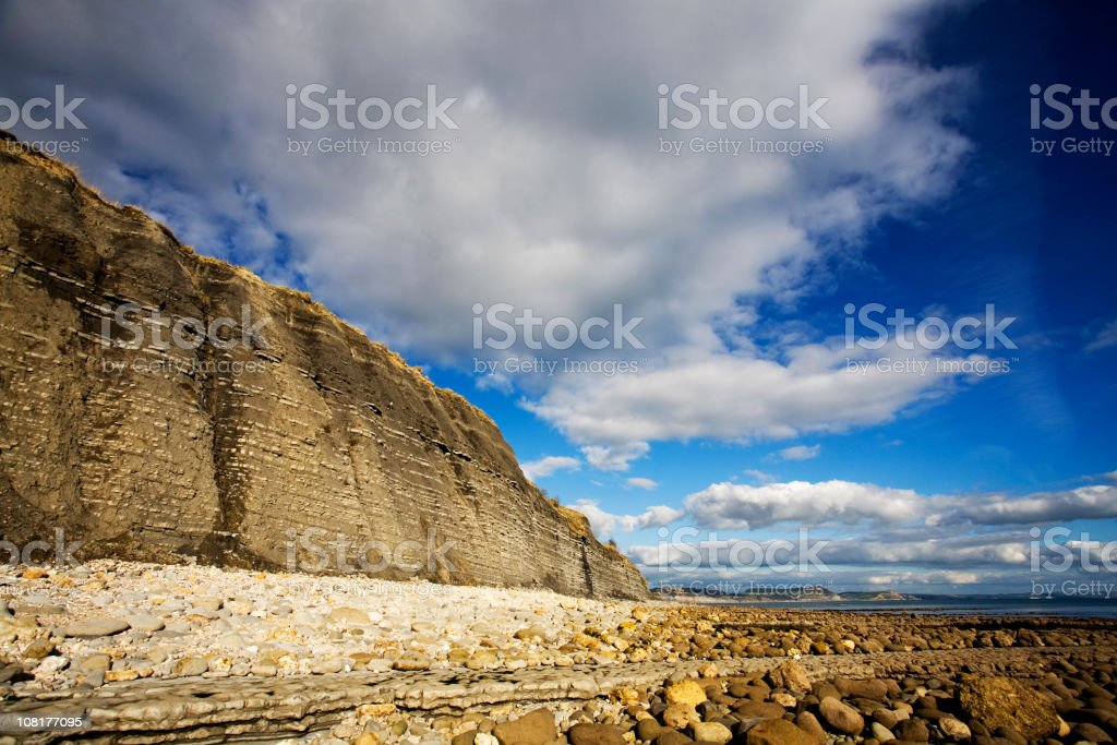 Rock strata stock photo