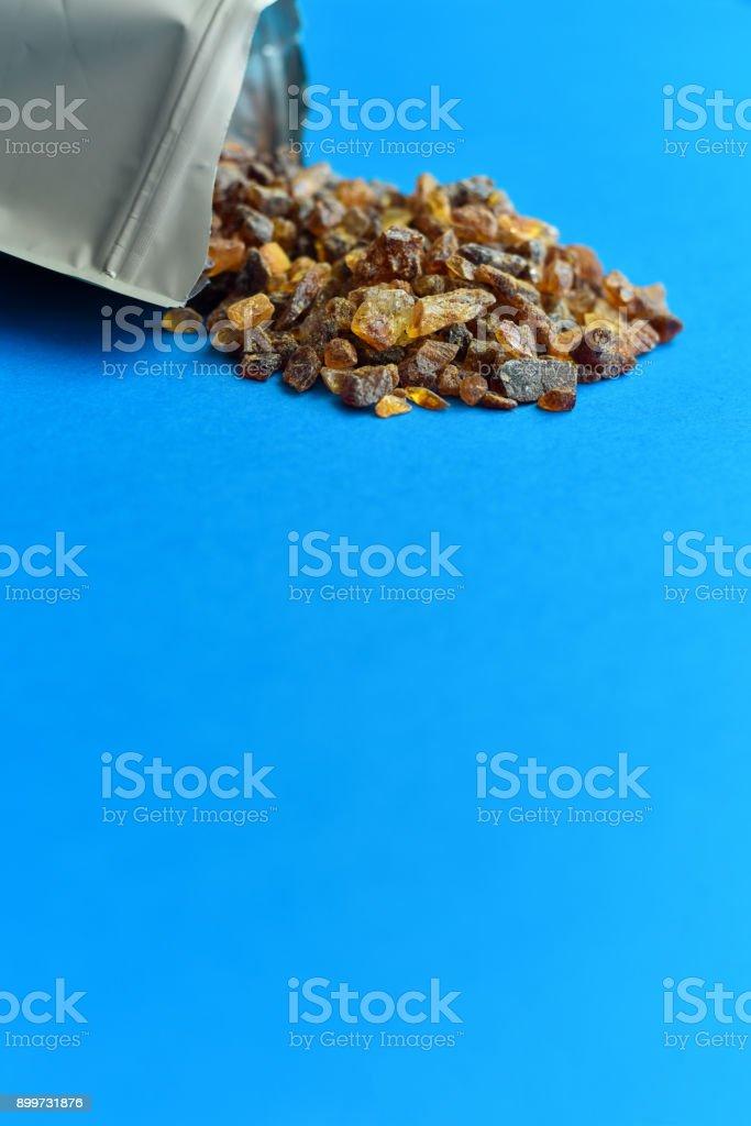 Rock Sugar Spill stock photo