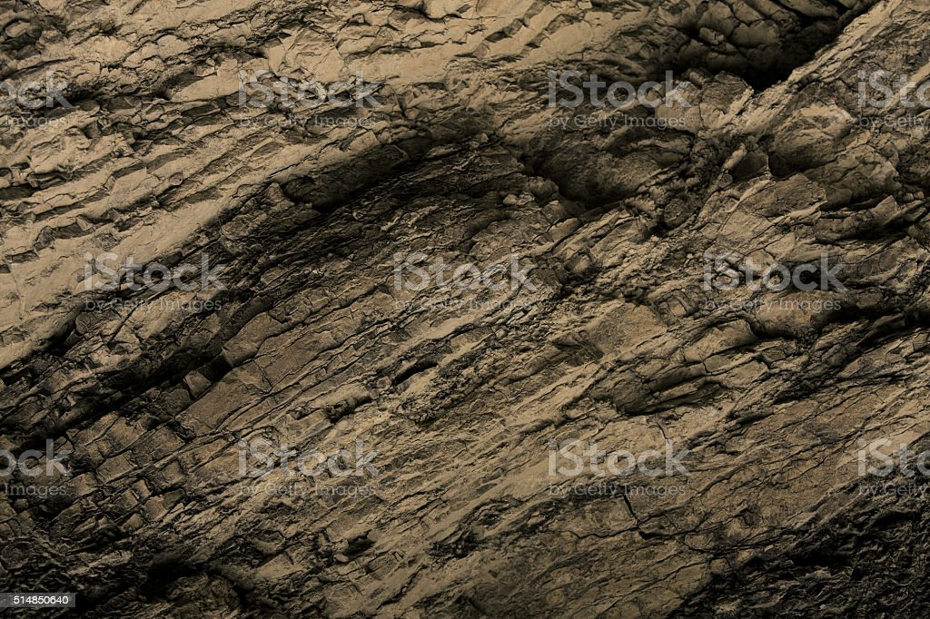 Rock surface of brown color stock photo