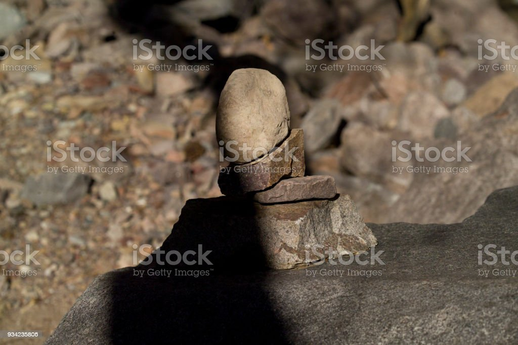 Rock Texture with Shadow stock photo