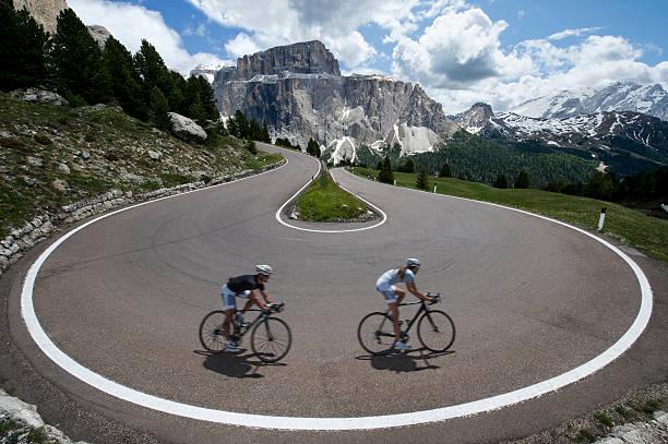 Rock der Asphaltstraße Radfahrer – Foto