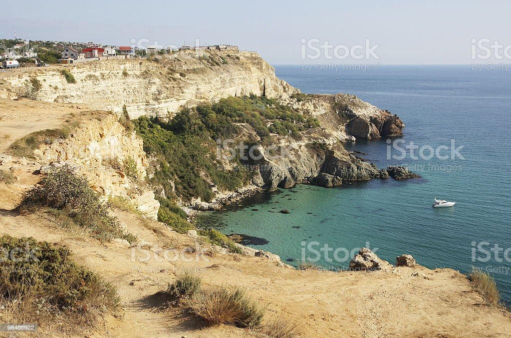 rock the Black Sea royalty-free stock photo