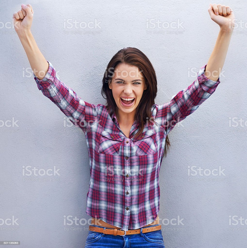 I rock this style! stock photo