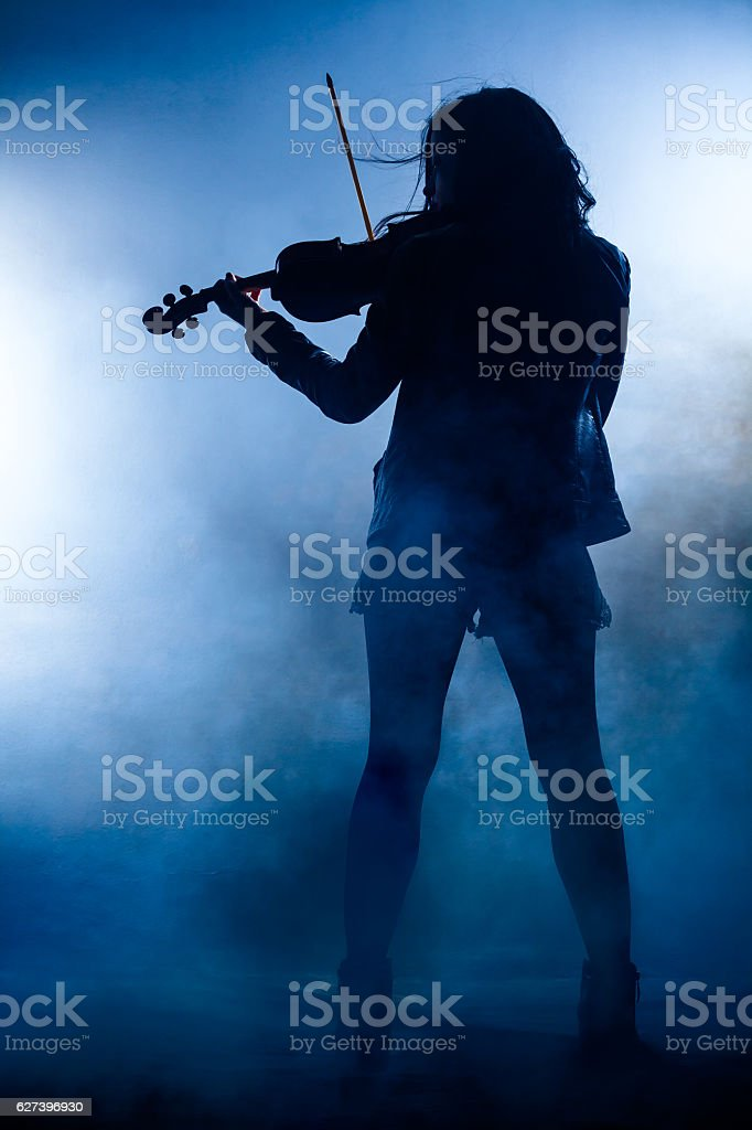 Rock Violinist stock photo