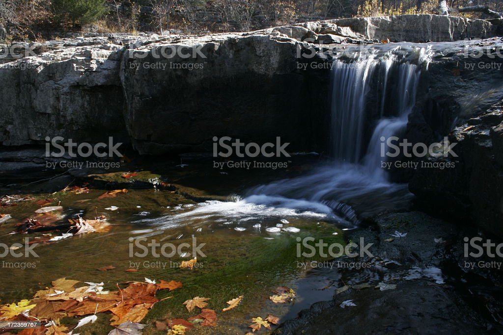 Rock Waterfall in fall royalty-free stock photo