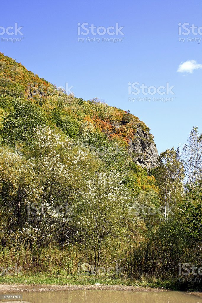 Rock with abrupt breakage royalty-free stock photo