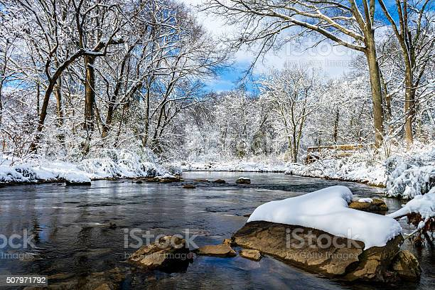 Photo of Rock with Snow in Richland Creek