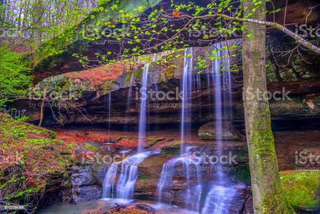 Rockbridge State Nature Preserve in Ohio stock photo