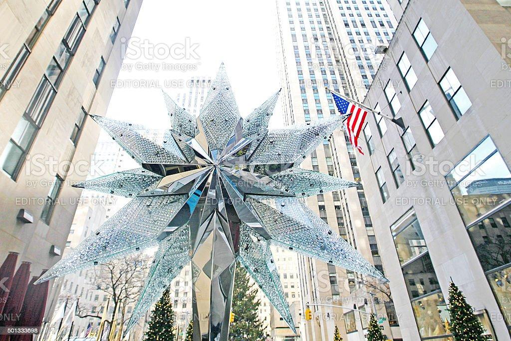 Rockefeller Center Christmas Tree Star Stock Photo More Pictures