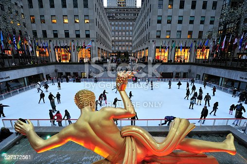 istock Rockefeller Center ice skate rink, New York 527372561