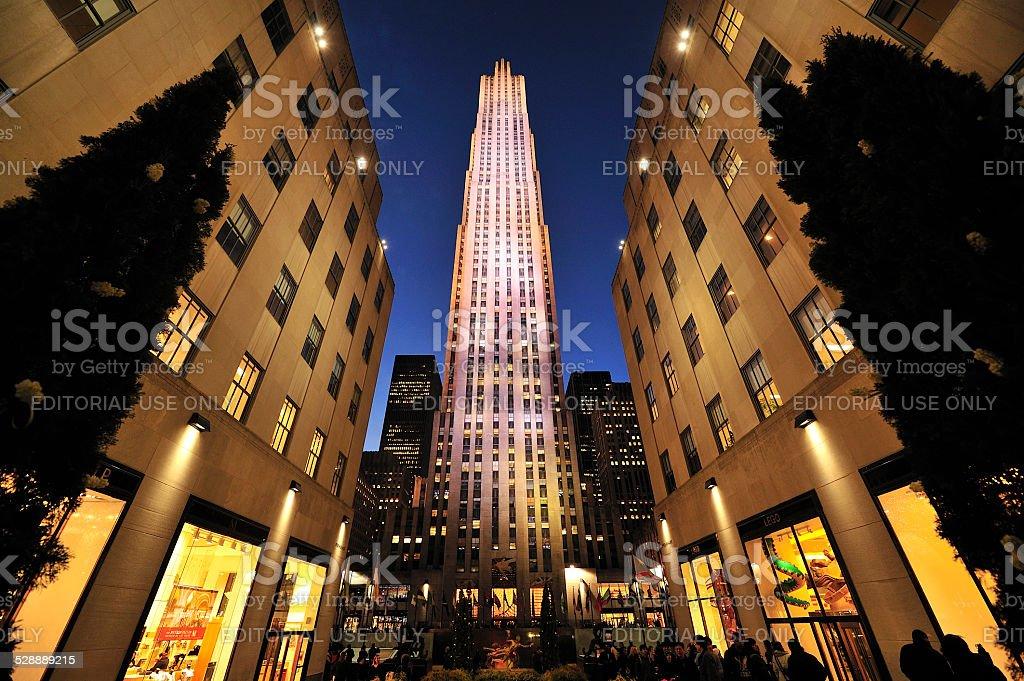 Rockefeller Center in New York stock photo