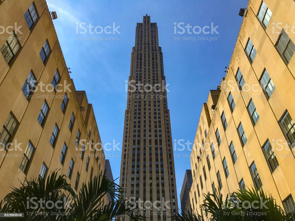Rockefeller Center in New York stock photo