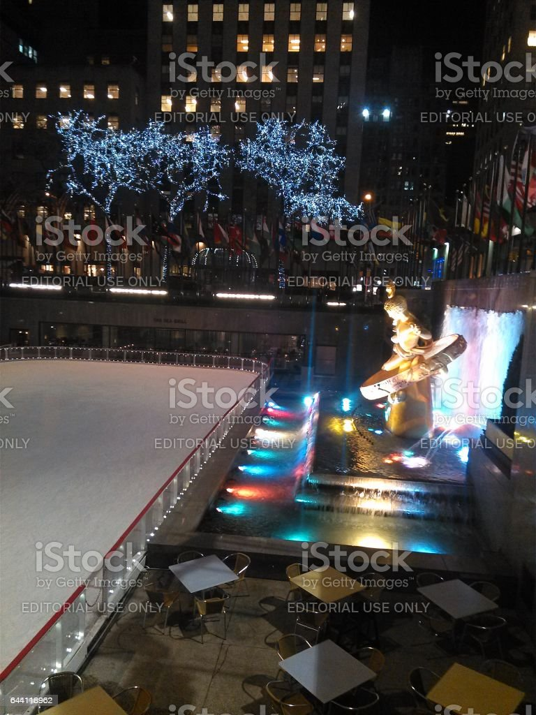 NEW YORK, USA - MARCH 27: Rockefeller Center in the USA on March 27, 2014 in New York, USA. stock photo
