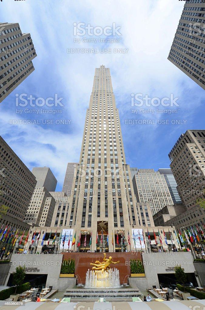 Rockefeller Center, Manhattan, New York City stock photo