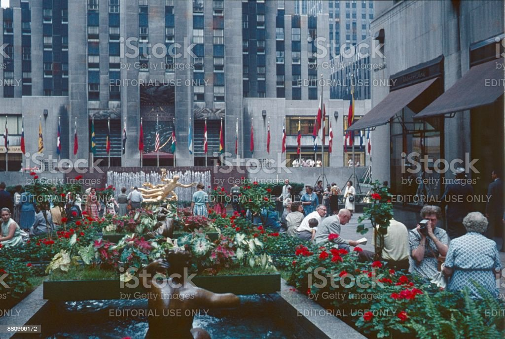 Rockefeller Center, New York City, 1961 stock photo
