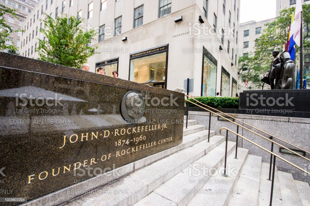 Rockefeller Center, New York City stock photo