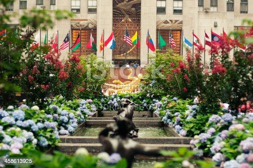 New York, USA - June 25, 2011: Prometheus at Rockefeller Center in Midtown Manhattan