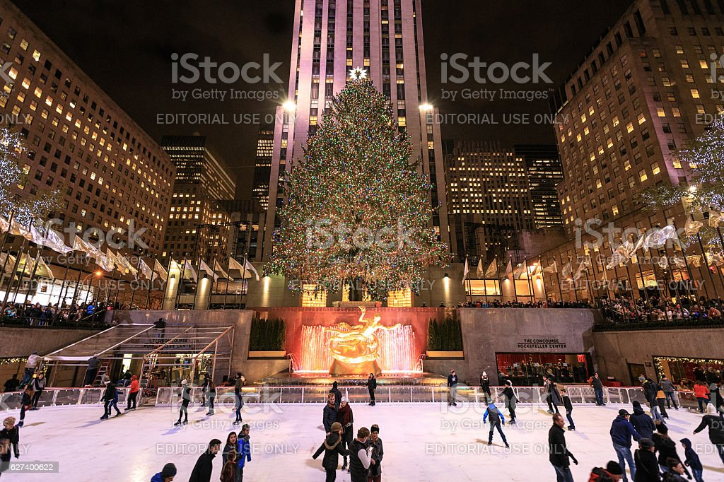 Rockefeller Center Skating Rink stock photo