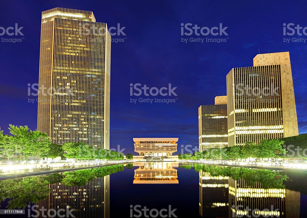 Rockefeller Empire State Plaza in Albany, New York stock photo