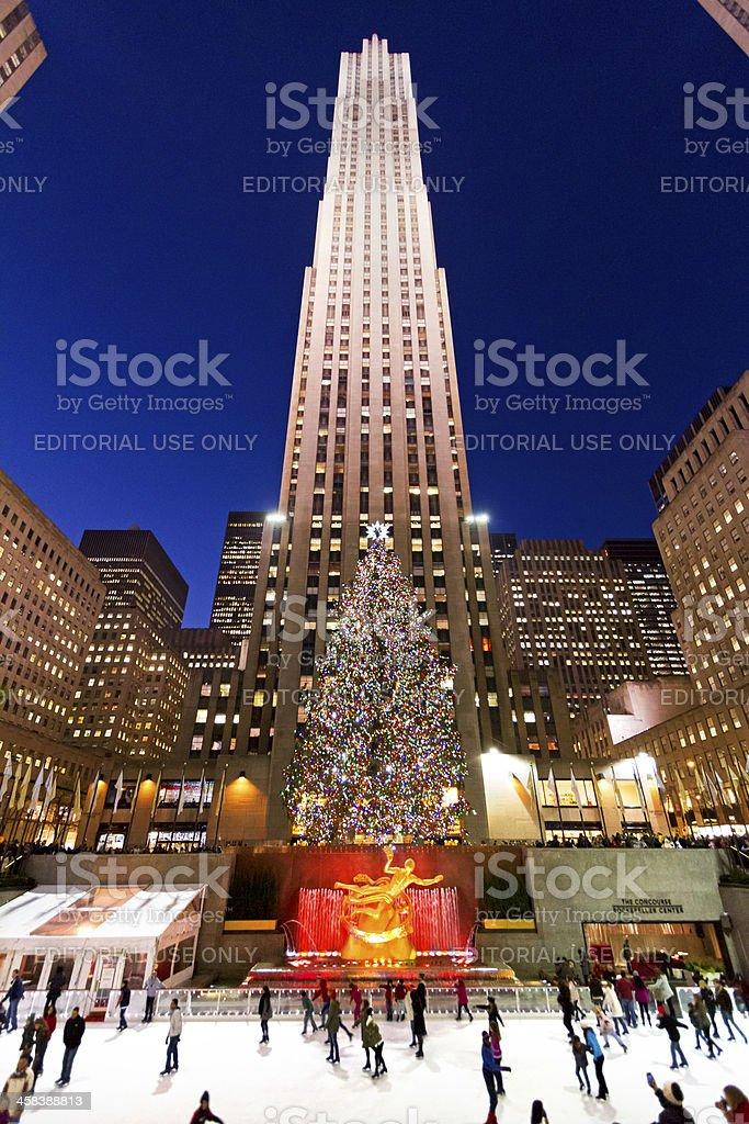 Rockefeller ice-rink NYC # 15 XXL stock photo