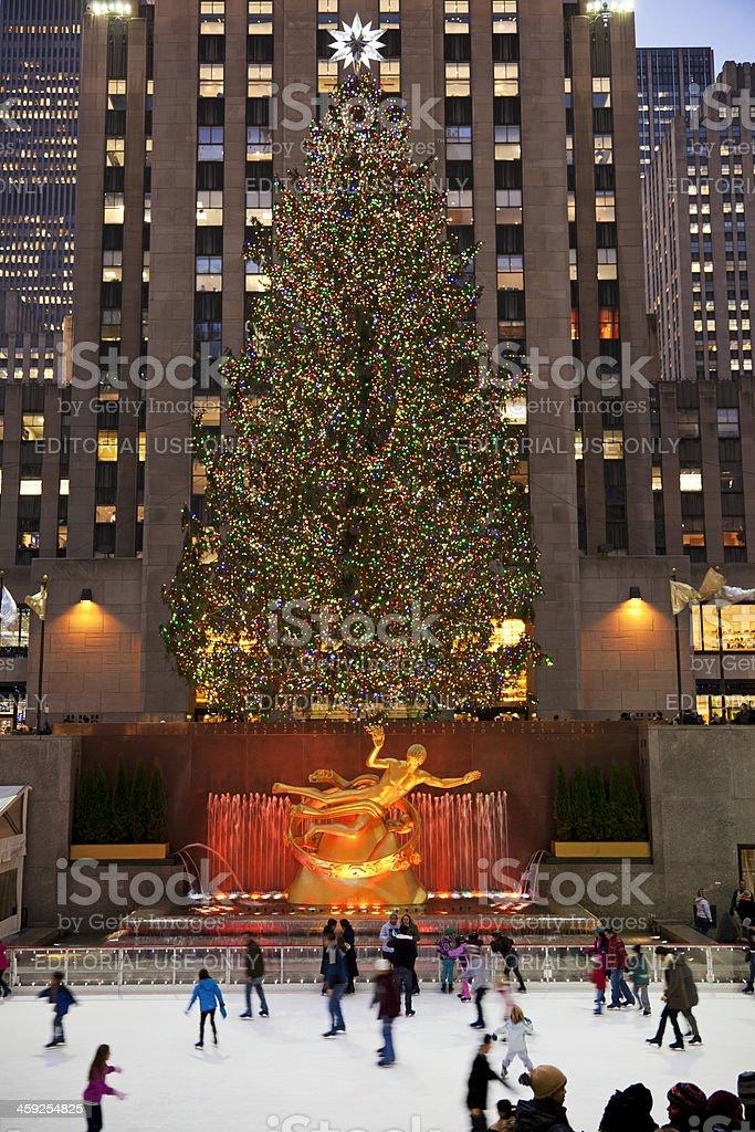 Rockefeller ice-rink NYC # 13 XXXL royalty-free stock photo