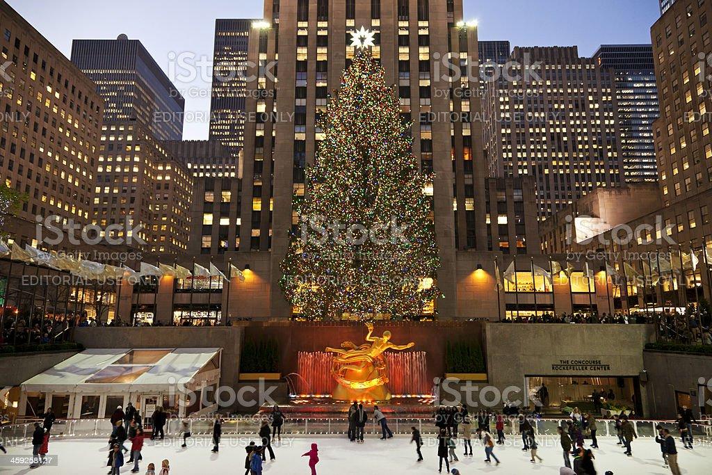 Rockefeller ice-rink NYC # 7 XXXL stock photo