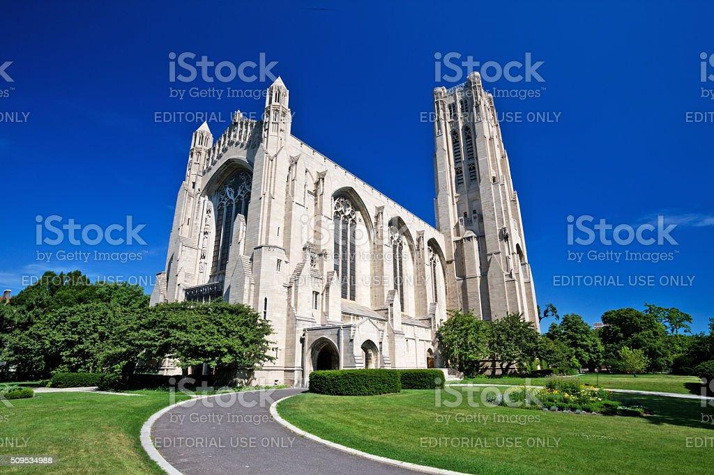 Rockefeller Memorial Chapel, Hyde Park, Chicago royalty-free stock photo