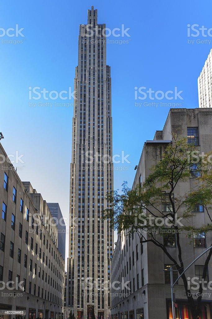 Rockefeller Plaza, New York, USA stock photo