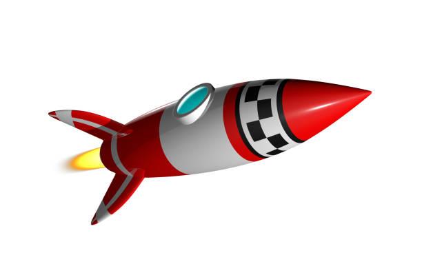 rocket 3d render - rocket logo stock photos and pictures
