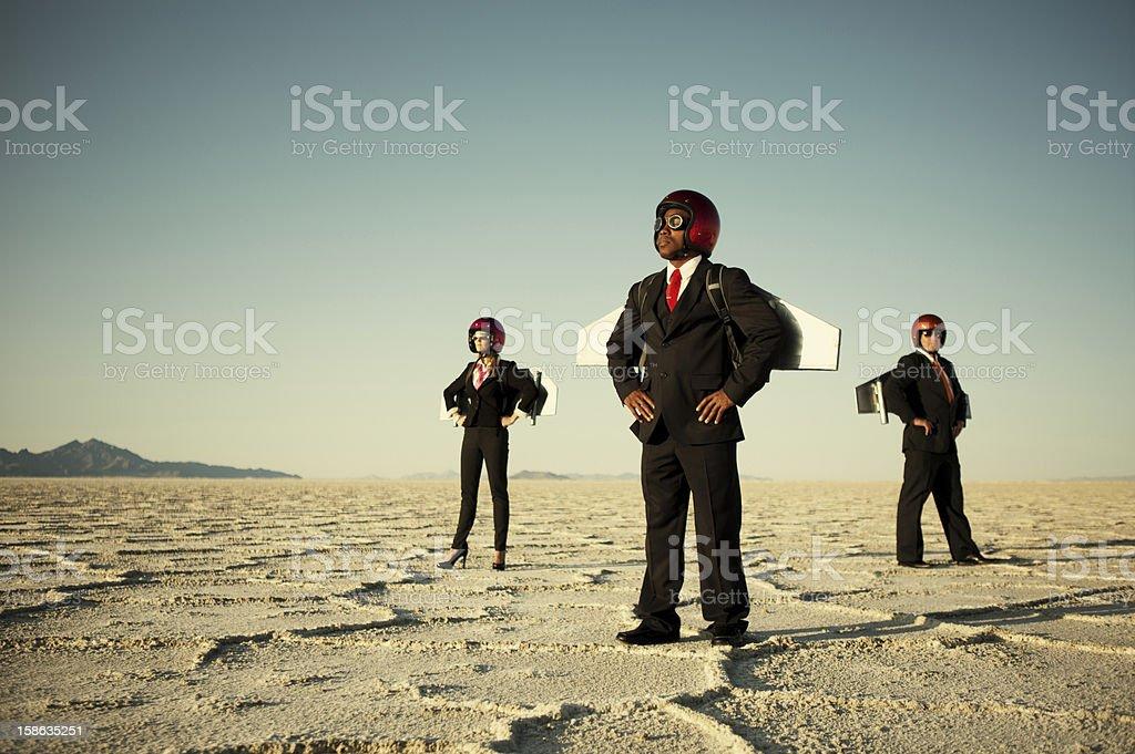 Rocket Biz royalty-free stock photo