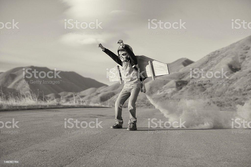 Rocket niño - foto de stock