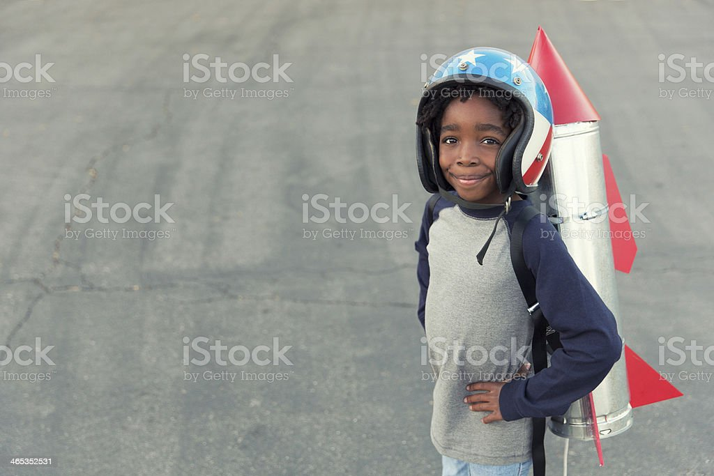 Rocket Boy stock photo