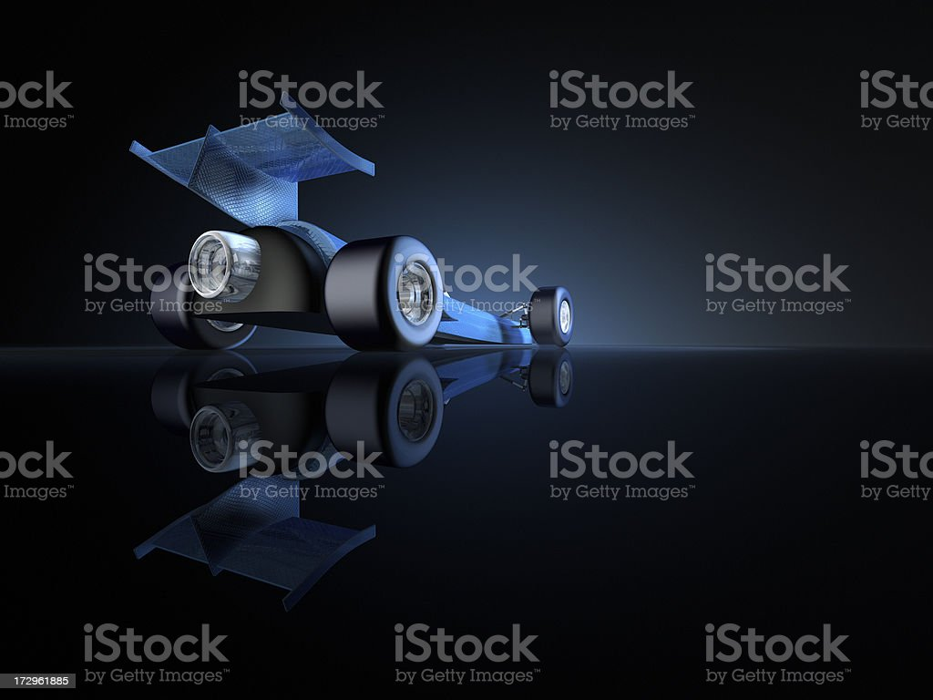 Rocket Car Copy Space royalty-free stock photo