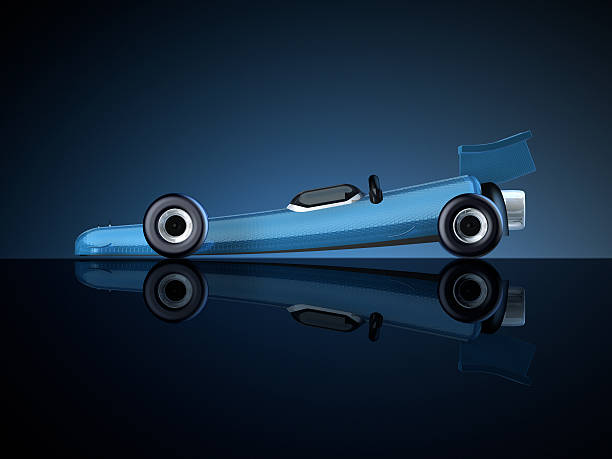 Rocket Car Side 3D Rendering. My own car design! Very high resolution available! motor sport stock pictures, royalty-free photos & images